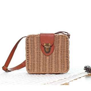 SQUARE RATTAN / STRAW-WOVEN / SUMMER / BEACH BAGS (PRE-ORDER) 💯 FREE SHIPPING 💯