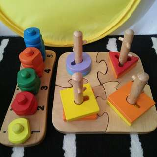 ELC Peg puzzle & wooden number toy