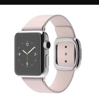 Apple Watch Series 1 38mm Stainless Steel with original Apple leather strap