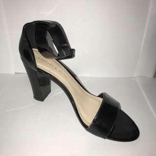 Charles & Keith sepatu Sandal Black
