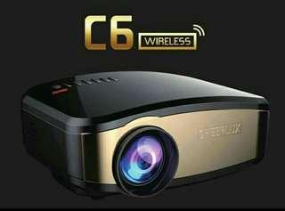 Mini Projector Wireless Cheerlux C6