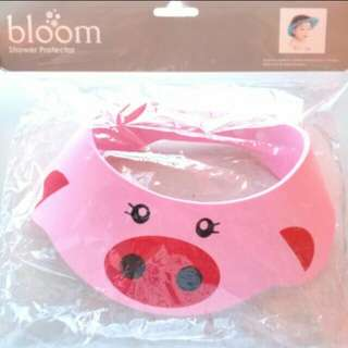 BLOOM BABY HEAD PROTECTOR BABY SHOWER CAP KIDS SHOWER HAT (PINK PIG)