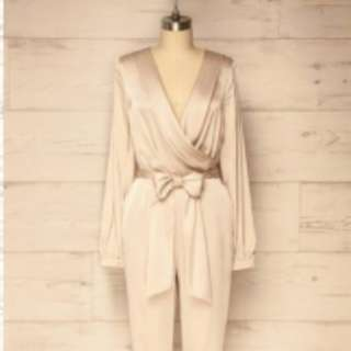 Beautiful Silk White Cream Jumpsuit Size small from 1861