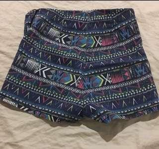 H&M Aztec High waist Shorts