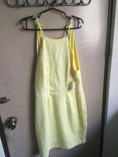 Yellow Backless Dress