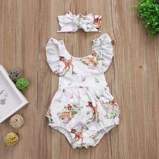 Instock - 2pc Bambi set, baby infant toddler girl children sweet kid happy abcdefgh so pretty