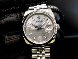 PREOWNED ROLEX Datejust 36, 116234 Rolesor, 36mm, Men-size, Alphanumeric Series @ Year 2014 Mens Watch