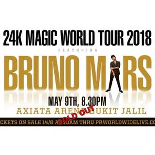 Bruno Mars KL 9th May