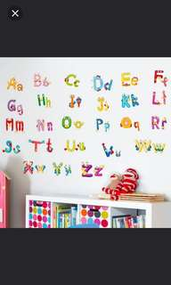 $10= 26 alphabet children wall stickers morning cute little animals kindergarten classroom wall decoration stickers Home Decor