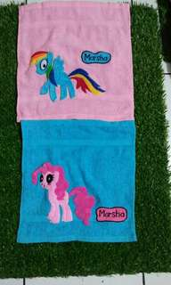Towel engraved  with name