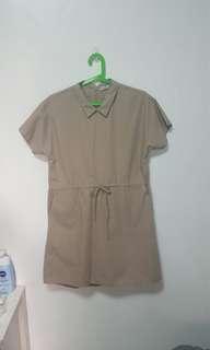Peppermint Khaki Dress