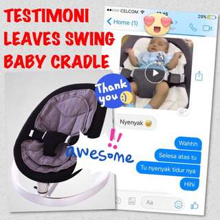 Testimoni leaves swing baby cradle