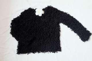 Black pom pom Shirt