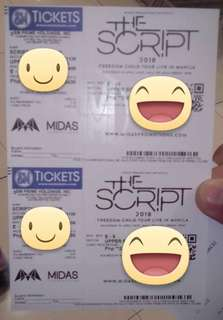 2 The Script Upper Box ticket