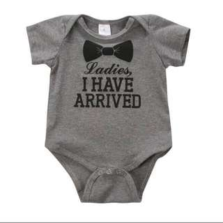 Instock - ladies I have arrived romper, baby infant toddler girl boy children sweet kid happy abcdefgh so pretty