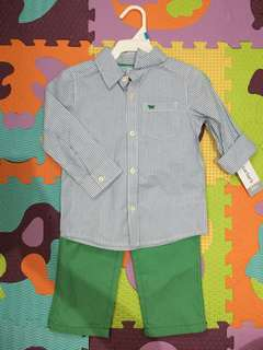 Carters Polo& Pants set