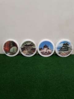 🚚 [全新]大理石杯墊組 (4個一組)