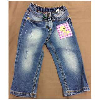 Monnalisa Blue Jeans (Size: 12M) Perfect Condition