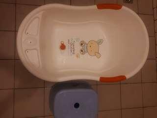 嬰兒洗澡盆(有排水孔)