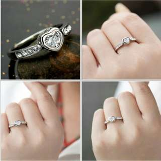 Heart Platinum Plated Ring
