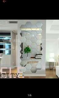 12pcs. 3D Mirrors Stickers Home Decor