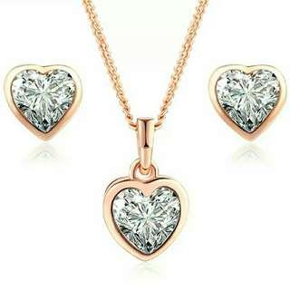 Heart Rose gold set
