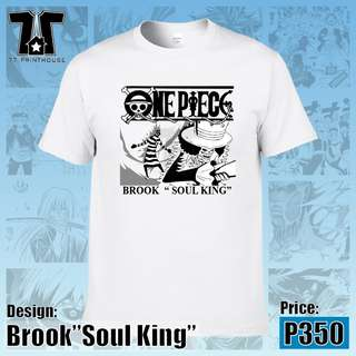 "One Piece Anime Brook ""Soul King"" White T-Shirt"