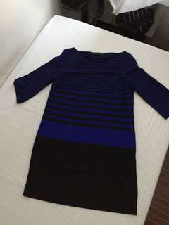 Zara Striped Office Dress