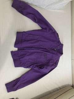 Beverly Hills Bomber Jacket in Violet