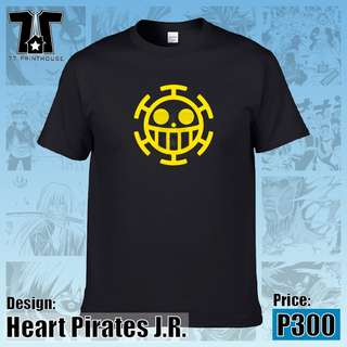 One Piece Anime Heart Pirates J.R. Black T-Shirt
