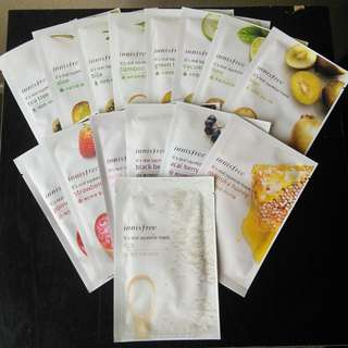 Innisfree My Real Squeeze Mask(acai berry, oatmeal, rose)