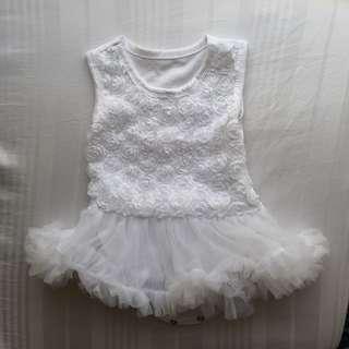 White TuTu Dress 0-3 months newborn