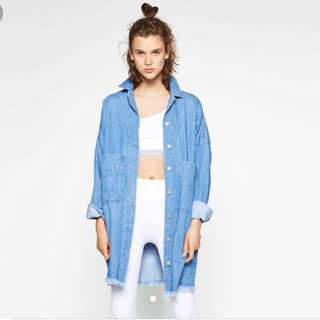 Zara long denim jacket EXACT
