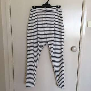 Cameo Stripe Drop Crotch Pant