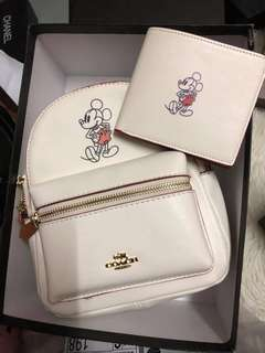🎀Coach Mickey backpack🎀 Grade1:1