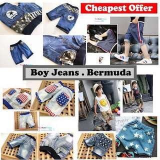 Boy Jeans/ Boy Bermudas / Boys Shorts
