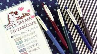 [INSTOCK] zebra sarasa vintage pen set