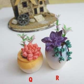 黏土人手製作 - 多肉植物(慈善義賣)