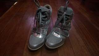 Forever 21 wedge sneakers (silver)