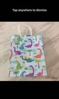 Dinosaur theme goodies bag, paper bag