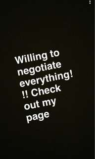 Willing to negotiate everything if we meet up this weekend!!!