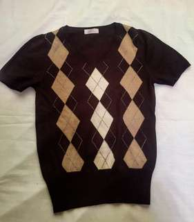 BROWN STRETCHABLE TOP