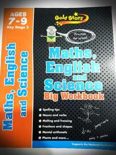 MATH, ENGLISH & SCIENCE BIG WORKBOOK