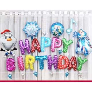 (In Stock) Frozen Theme Party Decoration Set-Happy Birthday