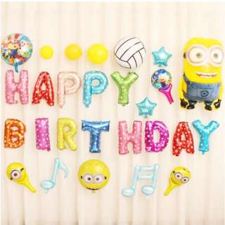 (In Stock)Minions Theme Party Decoration Set-Happy Birthday