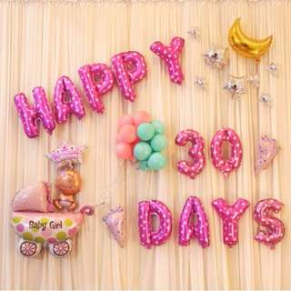 (In Stock) Baby  Girl 30 days Decoration Set-Baby Full Month