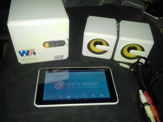 CM FUSION AURA TABLET AND SONIC GEAR SUB SPEAKER