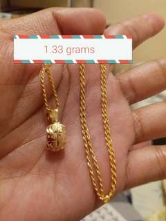 18k Saudi Gold necklace pawnable