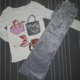 GAP GIRL SET PANT AND SHIRT