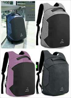 ANTI-THEFT backpack  P 950 High quality material size:18 inches *waterproof* *with usb cord* *hidden zipper pockets*